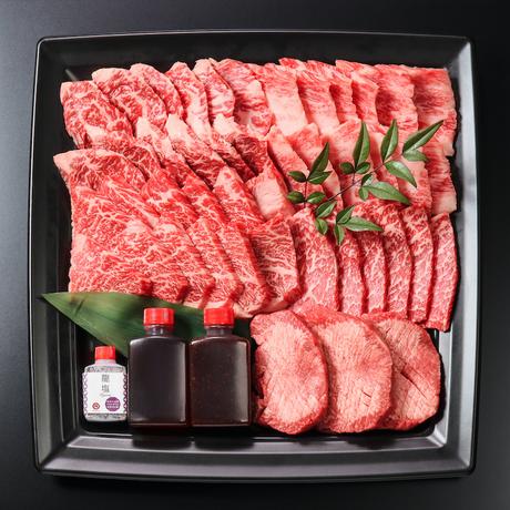 【焼肉の龍園×すきやき龍園】黒毛和牛焼肉&すきやきセット (2~3人前)