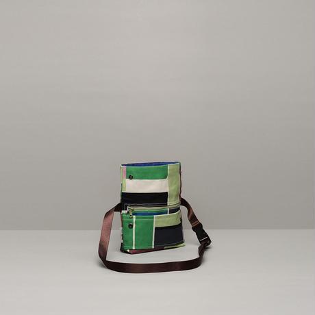 ウエストバッグ/緑のブロック