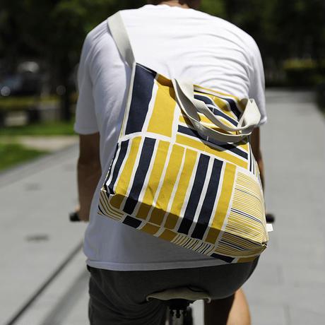 メッセンジャーバッグ/黄藍色