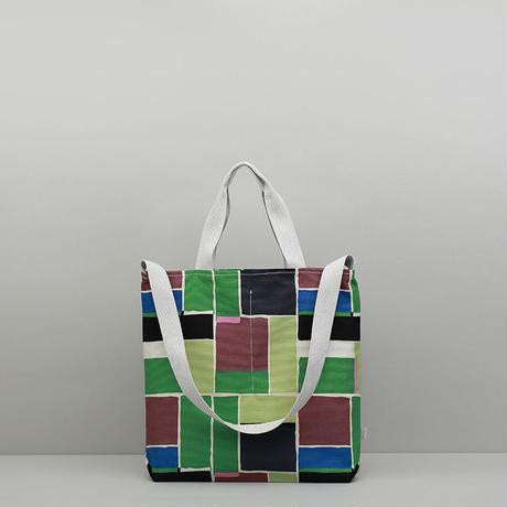 メッセンジャーバッグ/緑のブロック
