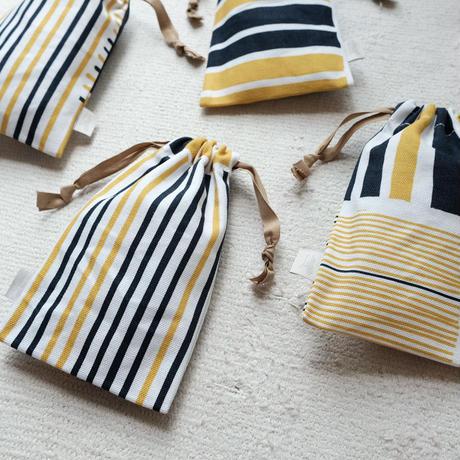 スモールドローストリングバッグ(巾着袋)/Yellow&Blue