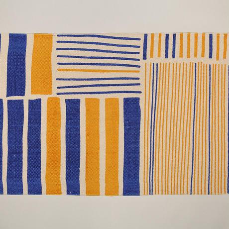 ラグ/黄藍色