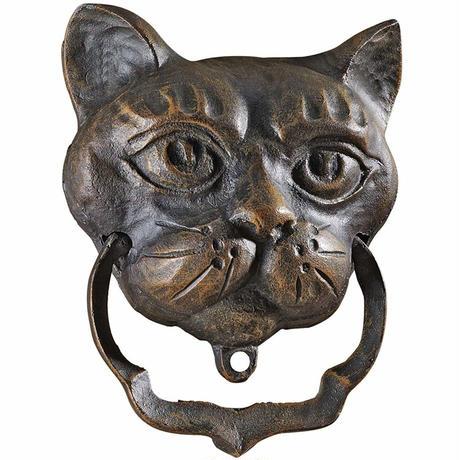 CAAAAT●世界の猫GOODS●猫の鋳鉄製ドアノッカーQH10572●Design Toscano