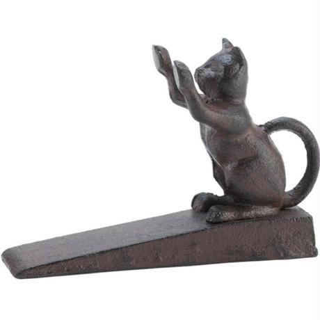 世界の猫GOODS●Home Locomotion SLC-10015651-V1●鉄製猫のドアストップ ●ホームロコモーション