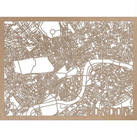 RED CANDY●CITYRMAPLON●市内地図ロンドン ●ナチュラル●30×40㎝●City Map London