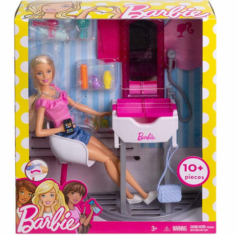 バービー*MATTEL BARBIE  FJB36*バービーのヘアサロン 美容室 ドール 人形 *プレイセット*マテル社