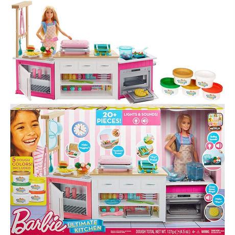 バービー*MATTEL BARBIE  FRH73*バービー人形のキッチン プレイセット *ライト&サウンド *マテル社