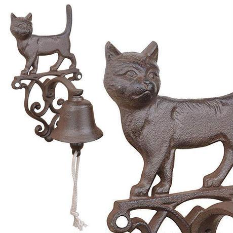 CAAAAT●世界の猫GOODS●猫の鋳鉄製ドアベル DB82●Esschert Design