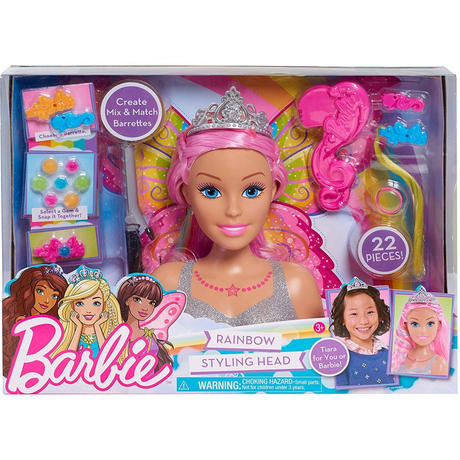 バービー*BARBIE 63225*スタイリングヘッド*デラックスレインボー*ピンクヘアー