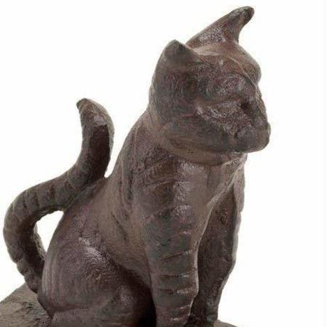 世界の猫GOODS●Accent Plus SS-EG-10015992●鉄製猫のドアストップ ●アクセントプラス