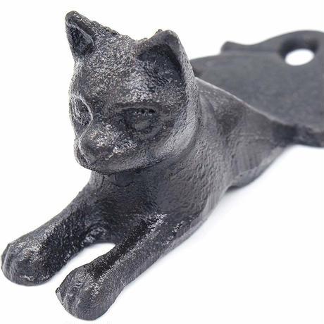 世界の猫GOODS●Earl Diamond 6612●鉄製猫のドアストップ ●アールダイヤモンド