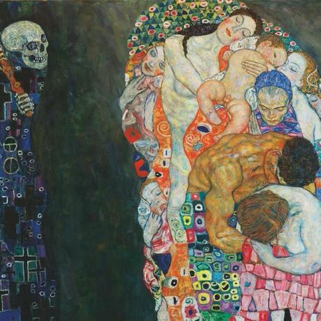 グスタフ・クリムト*死と生/Death and Life*59.4x84cm (A1)*キャンバスアート(フレーム無し)*Gustav Klimt