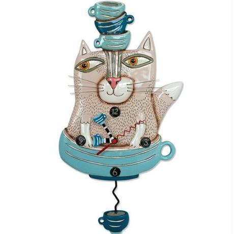 アレン デザイン スタジオ●P1754●ティーカップと猫●ALLEN DESIGN STUDIO
