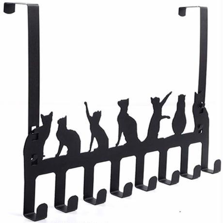 世界の猫GOODS●7匹の猫●8フックドアハンガー●Door Hook Hanger