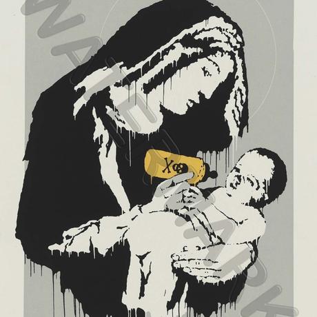 """バンクシー *TOXIC MARY*61 x 86 cm (24"""" x 34"""")*キャンバスアート(フレーム無し)*BANKSY"""