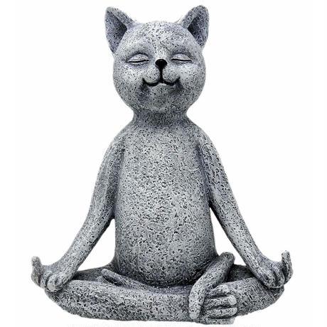 CAAAAT●世界の猫GOODS●ヨガをする猫、瞑想猫 tatue-7●Funny Guy Mugs