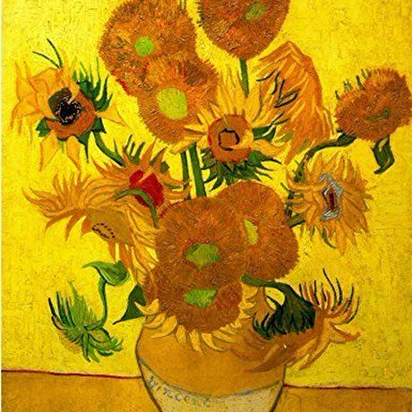 """フィンセント・ファン・ゴッホ*Vincent Willem van Gogh*ひまわり 黄*キャンバスアート  60×50cm (24""""×20"""")"""
