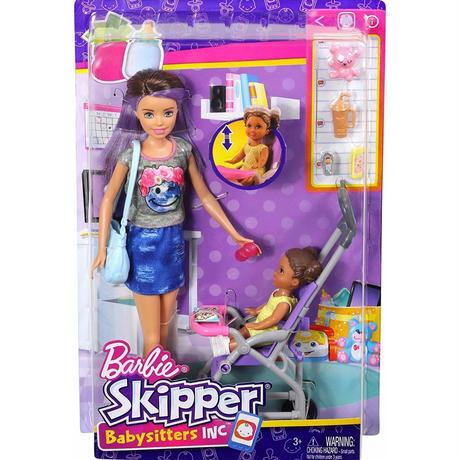 バービー*MATTEL BARBIE  FJB00*人形とベビーカーのプレイセット*マテル社