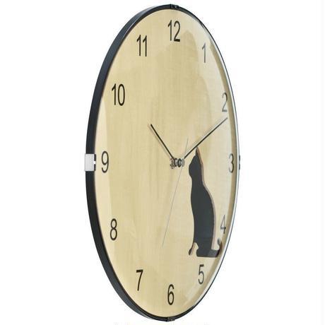 ソムペックス●Sompex Clocks 8028●猫のいる 掛け時計(黒猫)●クォーツムーブメント