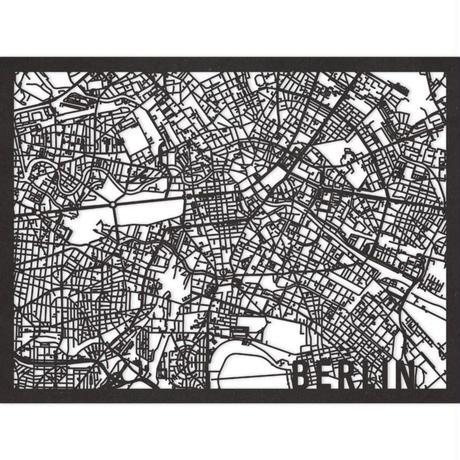 RED CANDY●CITYRMAPBER●市内地図ベルリン●黒●30×40㎝●City Map Berlin