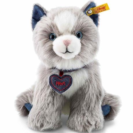 シュタイフ●Steiff 84430 ●デニムダーリングスキャット(灰)●Denim Darlings●世界の猫GOODG