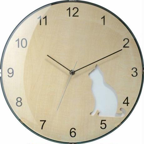 ソムペックス●Sompex Clocks 8030●猫のいる 掛け時計(白猫)●クォーツムーブメント