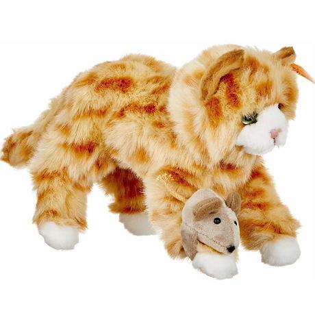 シュタイフ●Steiff 099434 ●ミミ 猫 +ネズミ●Mimmi Cat●世界の猫GOODG