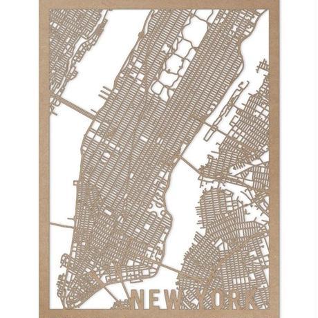 RED CANDY●CITYRMAPNYC●市内地図ニューヨーク●ナチュラル●50×70㎝●City Map New York