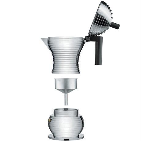 アレッシィ*ALESSI  * 「プルチーナ」エスプレッソコーヒーメーカー (6杯用/黒) *Pulcina【正規輸入品】