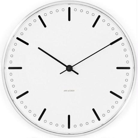 ローゼンダール◆アルネ・ヤコブセン◆CITY HALL・ ルードブレ市庁舎 掛け時計 (29㎝)◆Arne Jacobsen