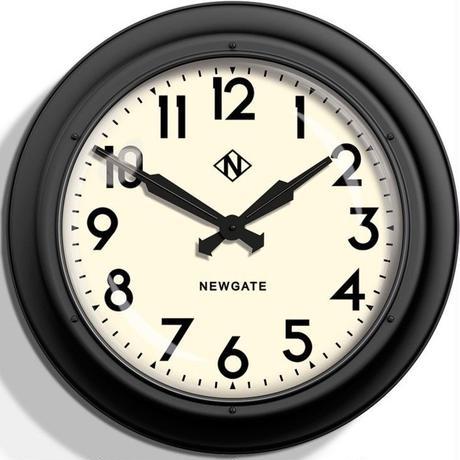 ニューゲート◆Newgate GWL12MK◆50代のスタイル掛け時計 (白黒)◆50s Electric Wall Clock