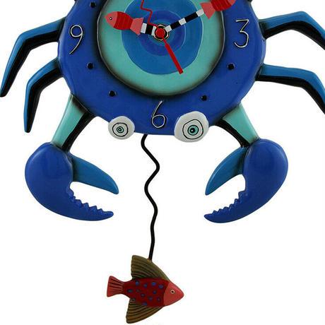 アレン デザイン スタジオ◆P1654◆青い蟹のデザイン/掛け時計◆ALLEN DESIGN  STUDIO