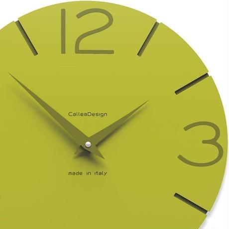 CALLEADESIGN◆大特価30%オフ◆WANDUHR SMILE  スマイル掛け時計 (セダーグリーン)◆トリエステ