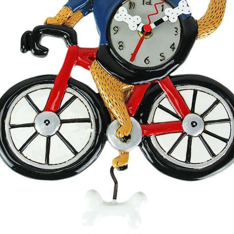 アレン デザイン スタジオ◆P2025◆自転車を乗る犬掛け時計◆ALLEN DESIGN  STUDIO