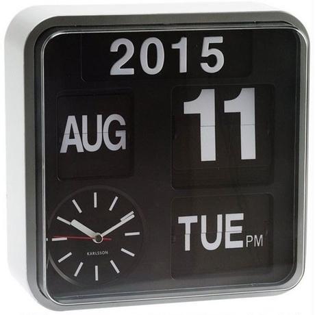 カールソン◆KARLSSON KA5364WH◆ミニフリップ壁掛け時計(ホワイト)◆Mini Flip Wall Clock