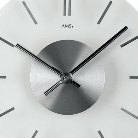 アームス ◆AMS 9318◆シンプルガラス 掛け時計◆ドイツ製クォーツムーブメント
