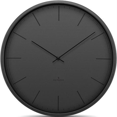 ホイヘンス◆HUYGENS HU16002◆ブラック掛け時計◆サイレントウォールクロック◆直径35cm