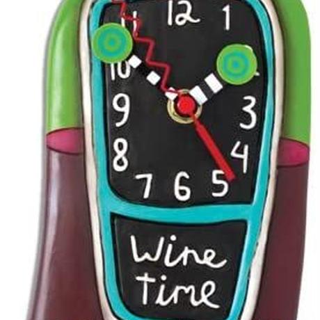 アレン デザイン スタジオ◆P1386◆コルクワインデザイン掛け時計◆ALLEN DESIGN  STUDIO
