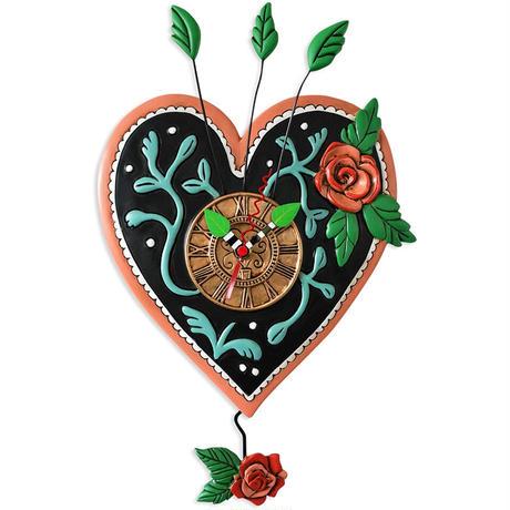 アレン デザイン スタジオ◆P2054◆ハートと薔薇/掛け時計◆ALLEN DESIGN  STUDIO