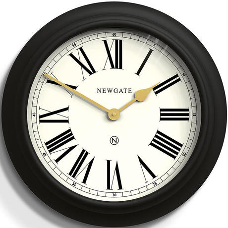 ニューゲート◆Newgate CHOC737CK◆チョコレートショップ掛け時計◆ケイブブラック◆Ø50cm