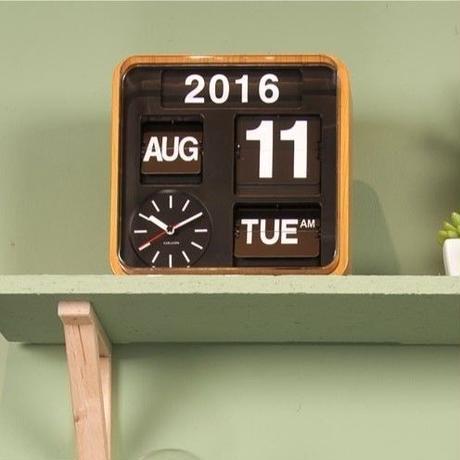 カールソン◆KARLSSON KA5364WD◆ミニフリップ壁掛け時計(ウッド)◆Mini Flip Wall Clock