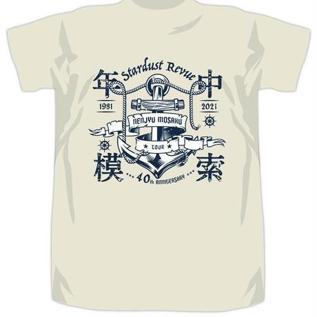 年中模索ツアー 錨ロゴTシャツ アイボリー