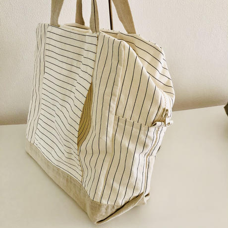 Hat box tote / strip