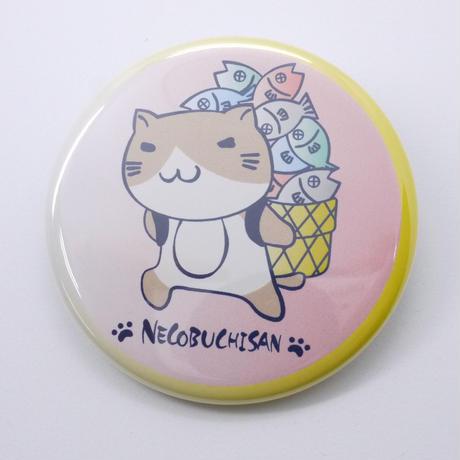 ねこぶち缶バッチ(大)かご猫渕 51853005