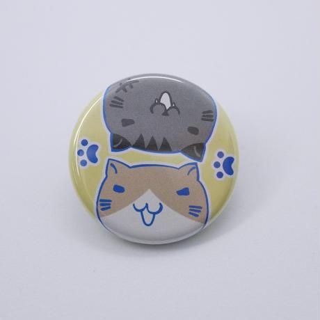 ねこぶち缶バッチ(小)猫黒渕 51853008