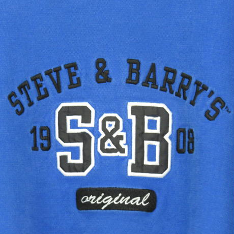 【Steve and barry's】S&B 刺繍 sweat(bule)(フリマ)