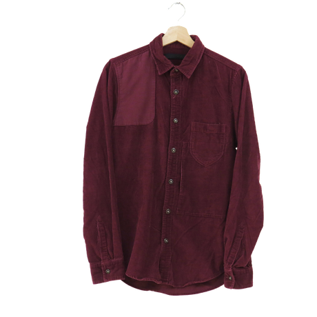 corduroy shirt【dark red】