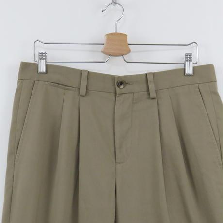 2 tuck double slacks(beige)
