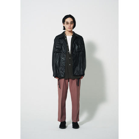 saby / AW2021 / MIL SHT -WET SYNTHETIC LEATHER-
