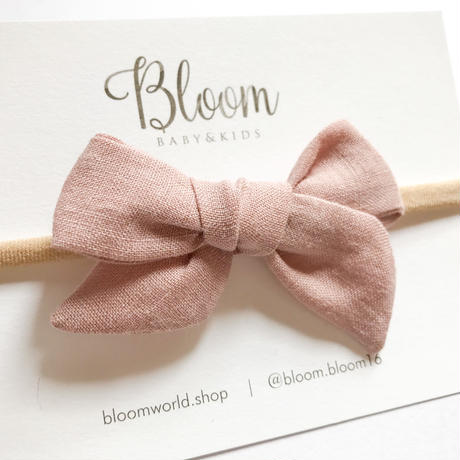 linen  bow [pink]